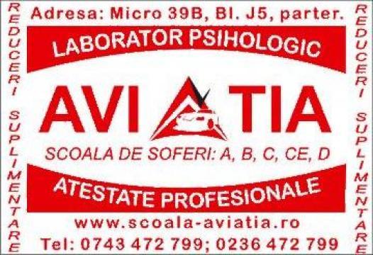 Obtinere atestate profesionale conducatori auto de la Scoala De Soferi Aviatia