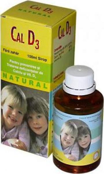 Calciu D3 Natural Sirop de la Natural Pharmaceuticals Supliments