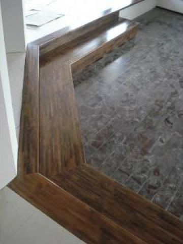 Trepte din lemn masiv de la Bigal Plast