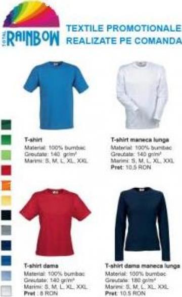 Tricouri T-Shirt bumbac maneca lunga, maneca scurta de la Rombow