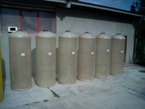 Rezervoare 1000 litri din fibra de sticla verticale de la Sc Fibromar Srl