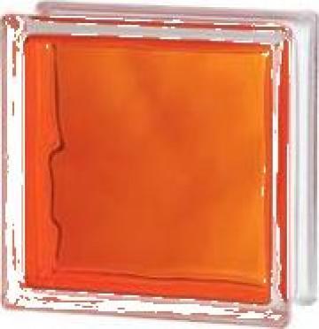 Caramida de sticla colorata prin injectie Orange de la Geo & Vlad Com Srl