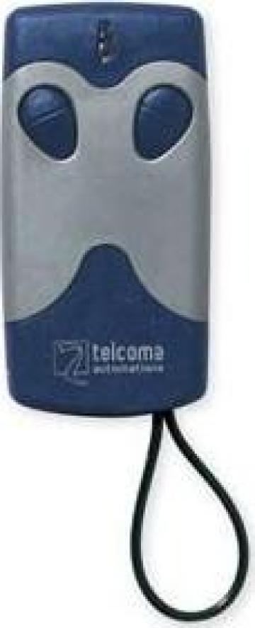 Mini telecomanda Telcoma doua canale 433 MHz fix