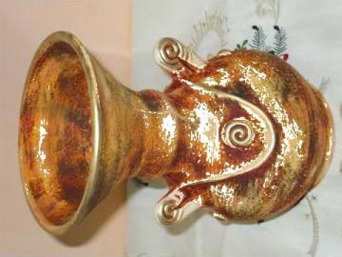 Vas traditional de ceramica, realizat manual de la Davidiu Srl