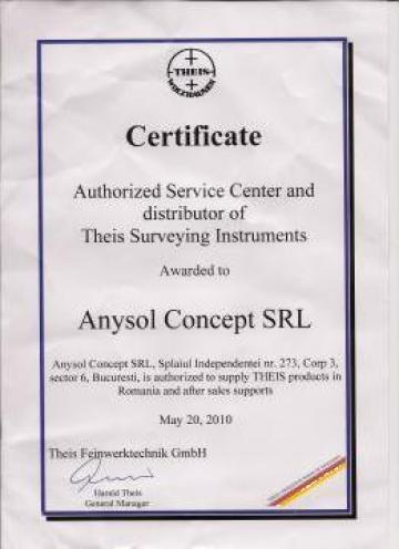 Intretinere si calibrare periodica statii totale de la Anysol Concept Srl