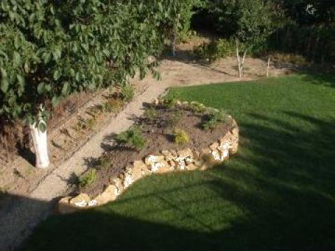 Amenajari gradini cu plante si piatra naturala