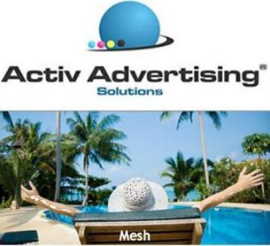 Banner mesh de la Activ Advertising Solutions