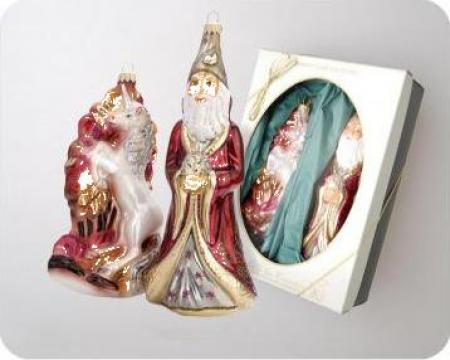 Figurine-decoratiuni din sticla Basm Merlin&Unicorn de la Sc Dar& Kgl Srl