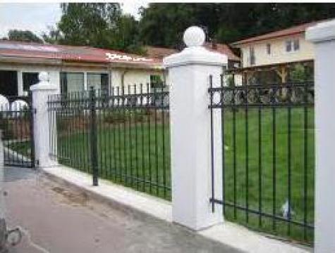 Panouri de gard metalic, simplu sau cu insertii fier forjat