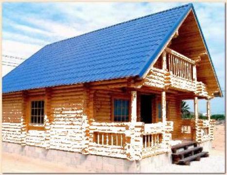 Case vile si cabane de munte din busteni valenii de for Case din lemn pret 5000 euro