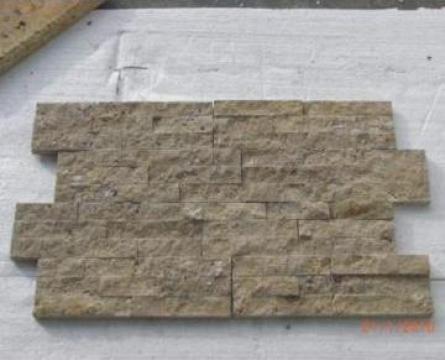 Mozaic Travertin Noce Split Face Brick 2x3x15 cm de la Geo & Vlad Com Srl