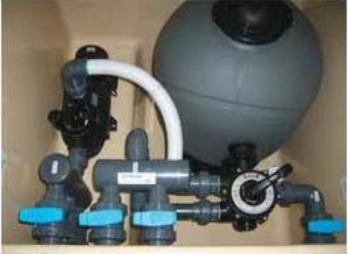 Spatiu tehnic preechipat pentru filtrare apa piscina de la Teo Pool Construct