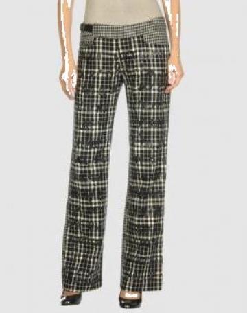 Pantalon pentru femei in carouri lungi cu buzunar de la Johnny Srl.
