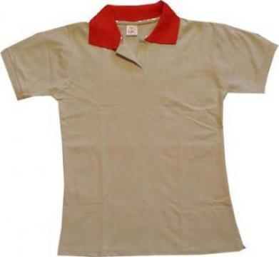 Tricou polo bicolor de la High Q Prod Srl