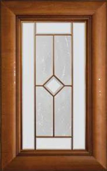 Front mobilier din lemn masiv - cu sticla