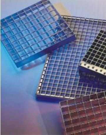 Gratare si trepte metalice electroforjate si zincate termic