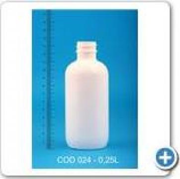 Flacon plastic la 0,25 l cu dop fi 28 de la Vanmar Impex Srl