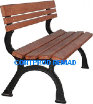 Bancuta parc-gradina cu scandura din lemn de fag, brad de la Ralmetal Remad Srl