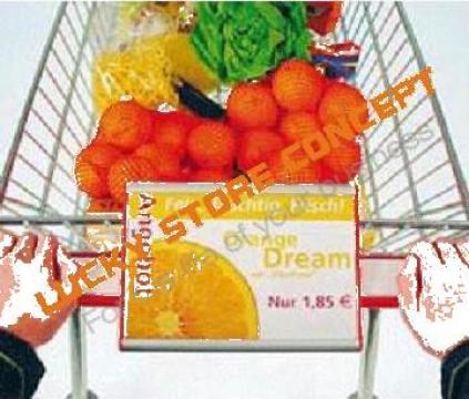 Maner carucior reclama publicitara de la Lucky Store Solution SRL
