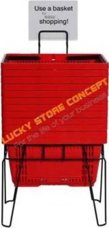Cosuri de cumparaturi de plastic Plastic shopping baskets de la Lucky Store Solution SRL