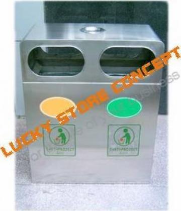 Pubela gunoi inox de la Lucky Store Solution SRL