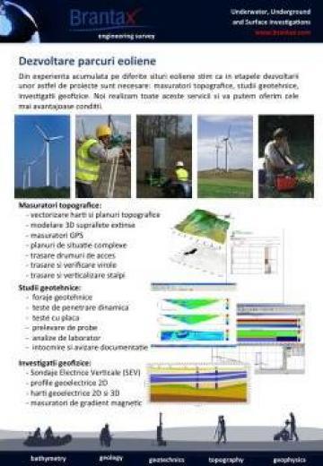 Servicii pentru dezvoltare parcuri eoliene