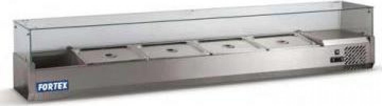Vitrina frigorifica cu geam pentru ingrediente 345039 de la Fortex