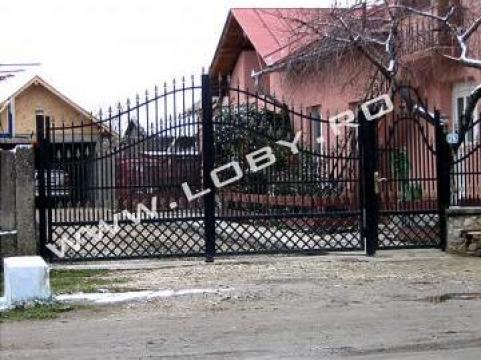 Gard si poarta din fier forjat Fix de la Loby Design