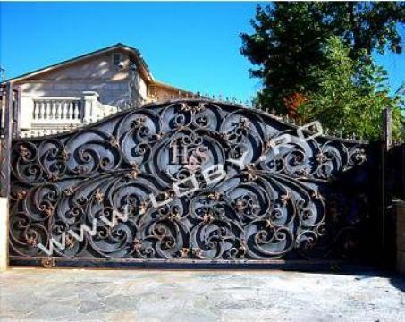 Poarta si gard din fier forjat Glory de la Loby Design