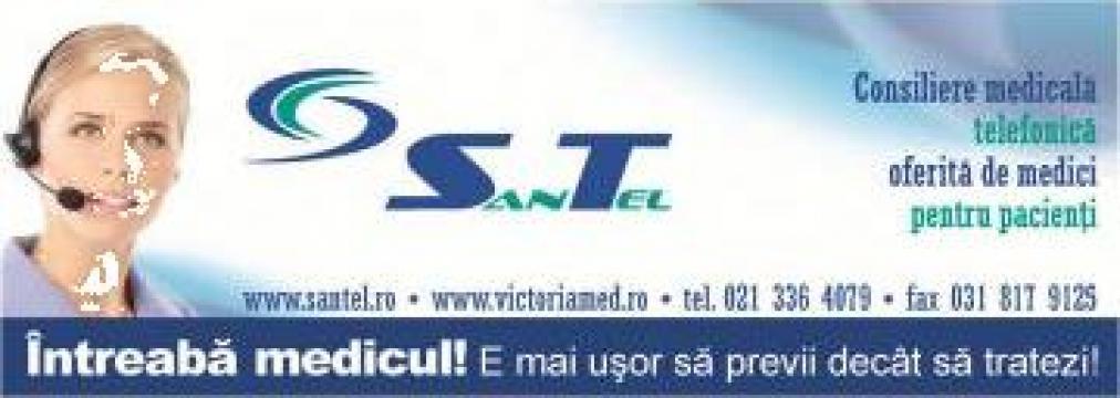 Servicii medicale prin telefon SanTel de la Victoria Med Exclusiv Business Srl