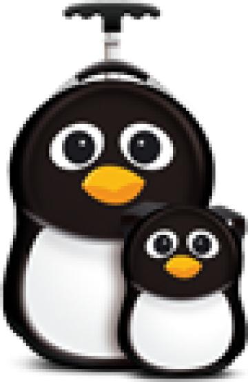 Ghiozdan si valiza copii Peko the Penguin, Cuties&Pals de la Stiki Concept Srl