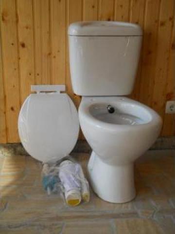Vas de toaleta cu bideu incorporat in acelasi obiect sanitar de la Sc Home Ride Srl