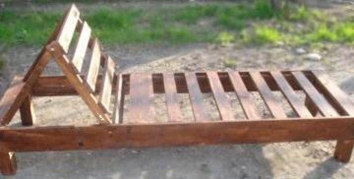 Sezlong plaja lemn de la Meteor Wood Srl