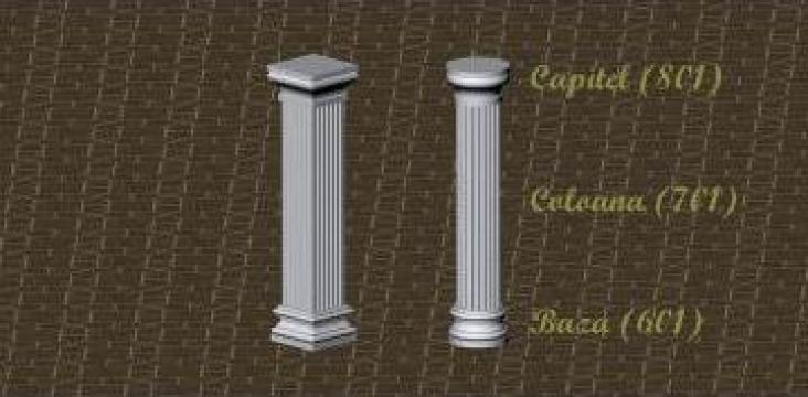 Coloana, baza, capitel din polistiren de la Royal Centrum