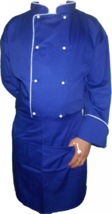 Costum de bucatar albastru de la Johnny Srl.