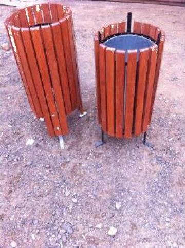 Cos de gunoi din lemn de la Ralmetal Remad Srl