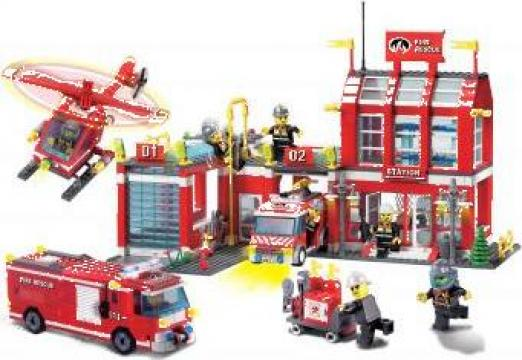 Joc Lego City Statie de Pompieri, 980 piese de la Brick Toy Srl