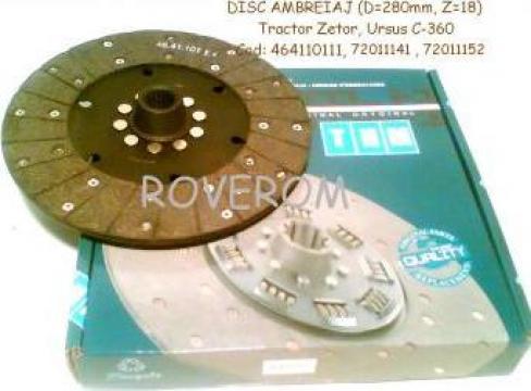 Disc ambreiaj Zetor, Ursus C-360, 280mm, 18 caneluri