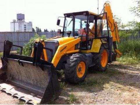 Inchiriere buldoexcavator Fermec 860 si Fiat Hitachi