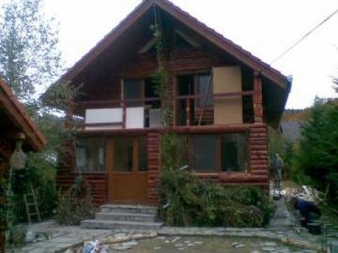 Sistem de transformare casa lemn beton in cabana de lemn for Trasformare casa