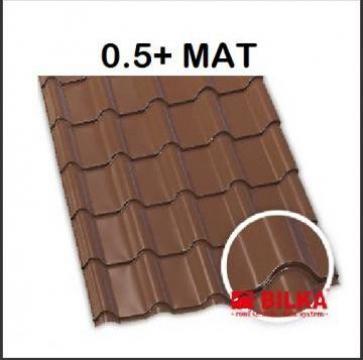 Tigla metalica Bilka Balcanic mat 0.5+ de la BDM Roof System