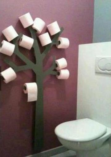 Suport hartie igienica