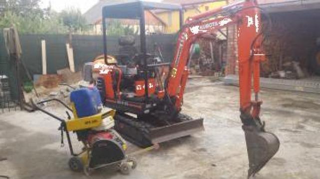 Inchiriere mini-excavator, buldoexcavator de la