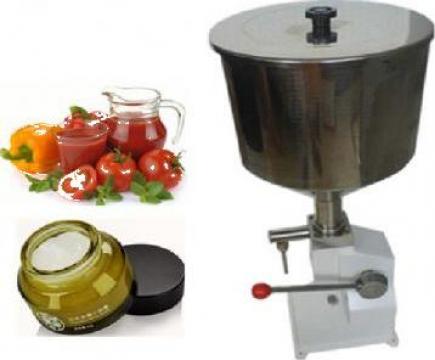 Masina de umplere manuala cu pasta si lichid