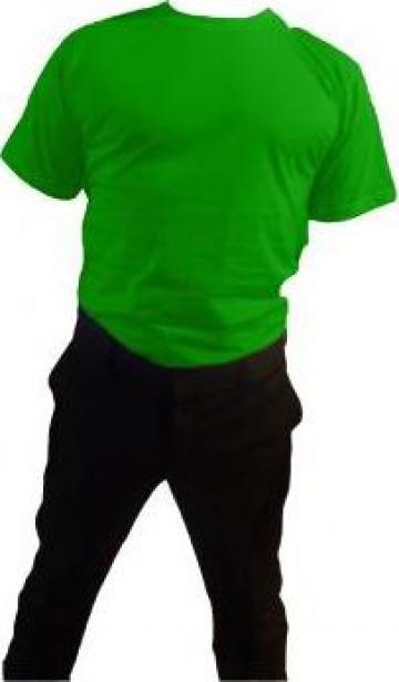 Tricou verde 100% bumbac maneca scurta de la Johnny Srl.