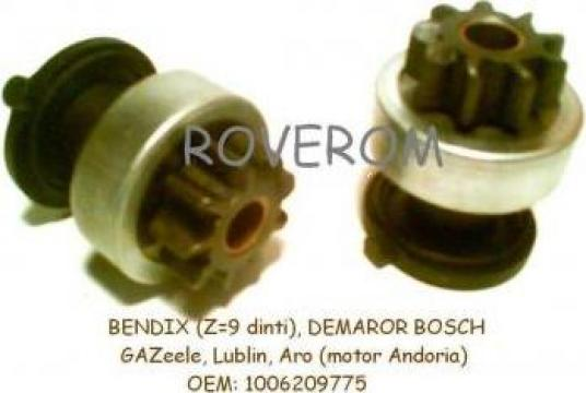 Bendix (z=9 dinti) demaror Bosch, GAZelle, Lublin, Aro de la Roverom Srl