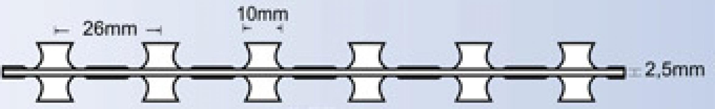 Sarma lamata BTO 10 concertina fara cleme de la S.c. Systema Resources S.r.l.