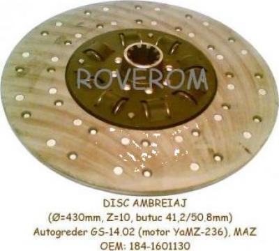 Disc ambreiaj (D=430mm, Z=10) Autogreder GS-14.02, MAZ, MZKT
