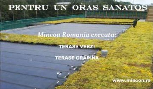 Hidroizolatii terase - gradina de la Mincon Romania Srl