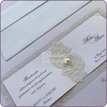 Invitatie de nunta eleganta cu plic de la Simonne
